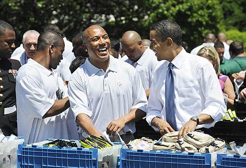 Barack Obama and Hines Ward